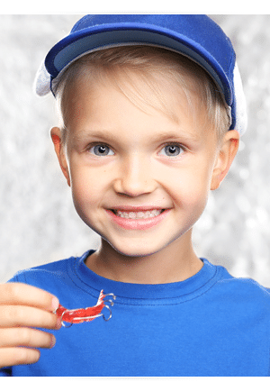 Young Boy with Retainer Photo at Cedarbaum Orthodontics in Flemington NJ