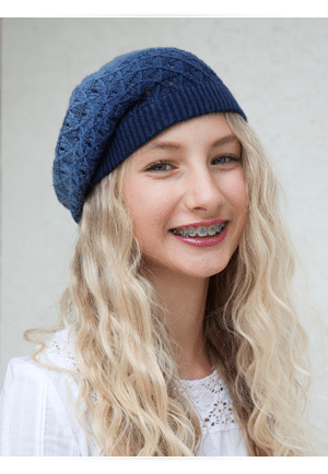 Blonde Girl in Hat Photo at Cedarbaum Orthodontics in Flemington NJ