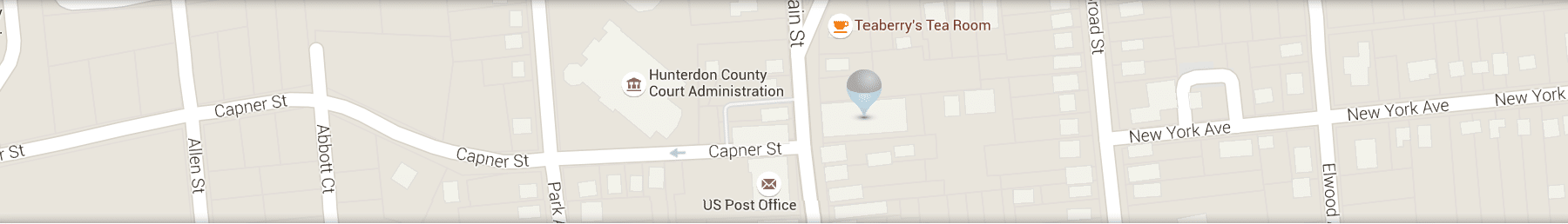Location Map Graphic at Cedarbaum Orthodontics at Flemington NJ